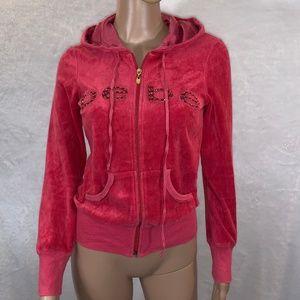 BEBE women's cardigan hoddie size s zipper